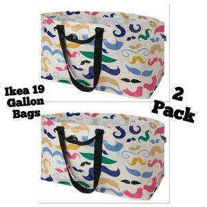 2x - IKEA Bag Mustache Storage Laundry  Shopping